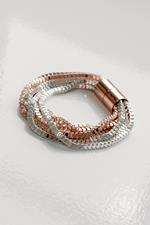 Silver and Rose Gold Magnetic Clasp Bracelet