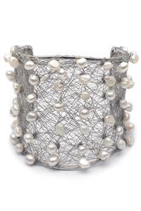 Spiderweb pearl cuff - As seen in Vogue Magazine