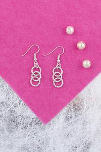 Handcrafted Silver Chainlace Earrings