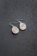 Silver Rose Shell Earrings