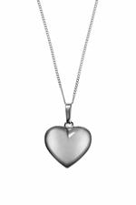 Girls Silver Heart Necklace