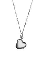 Girls Silver Heart Locket Necklace