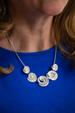 Silver Rose Shell Necklace and Earring Set