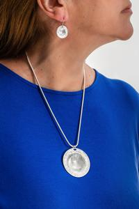 Silver Sphere Necklace and Earring Set