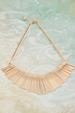Gold Embossed Fan Necklace