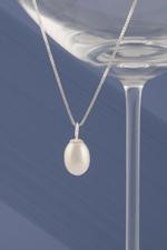 White Pearl-Drop Necklace - As seen in HELLO! magazine
