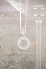 Silver Crystal Celestial Circle Necklace