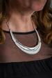 Silver Curve Shell Necklace