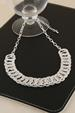 Silver Hammered Rings Necklace