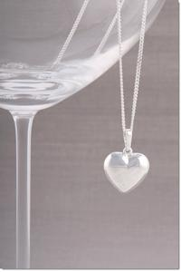 Silver Heart Necklace - As seen in HELLO! LOVES