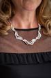 Silver Oyster Shell Necklace