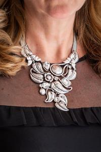Silver Statement Deco Necklace