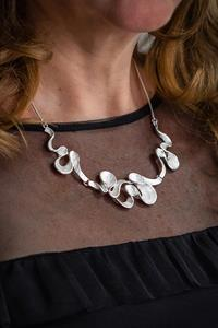 Silver Wave Shell Necklace