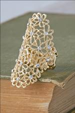 Gold Filigree Flower Ring
