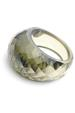 Olive Green CZ ring