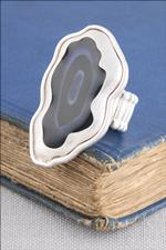 Silver Agate Eclipse Ring